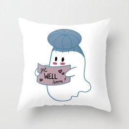 Little Ghost Well Throw Pillow