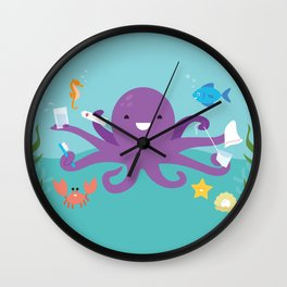Under the Sea Octopus and Friends Wall Clock