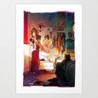 loish Art Prints featuring Morning by loish