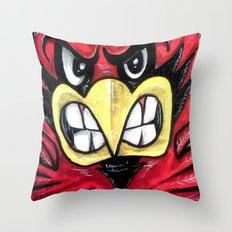 Fighting Cardinal Throw Pillow