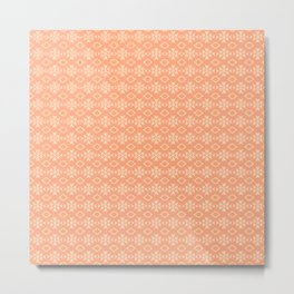 Peach Pattern Design Metal Print