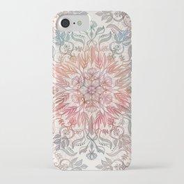 Autumn Spice Mandala in Coral, Cream and Rose iPhone Case