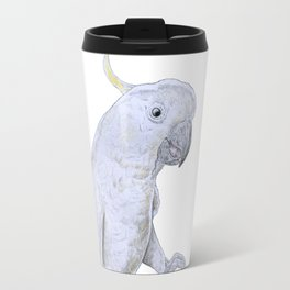 Contemplative Cockatoo Travel Mug