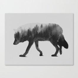 The Wolf (black & white version) Canvas Print