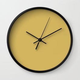 Flaxen - Solid Color Collection Wall Clock