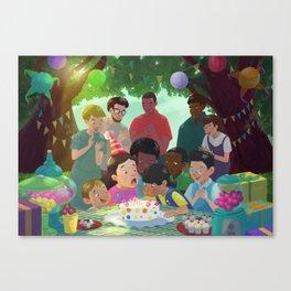 Blowing up cadles! Canvas Print