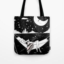 Reading in the Moonlight Tote Bag