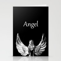 angel wings Stationery Cards featuring Angel Wings by Shaunia McKenzie