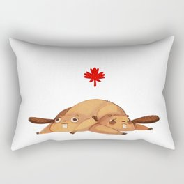 Eager Beavers Rectangular Pillow