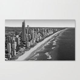 Black and White Gold Coast - Australia Canvas Print