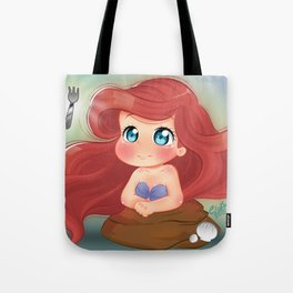 Ariel Little Mermaid Chibi Tote Bag
