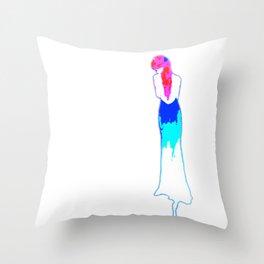 Loud dress Throw Pillow