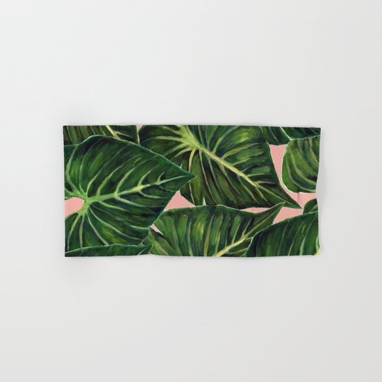 Tropical II Coral Hand & Bath Towel