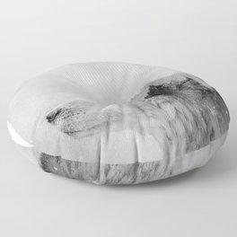 Wolf (B&W) Floor Pillow