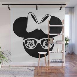 Mouse head summer girl t-shirt Wall Mural