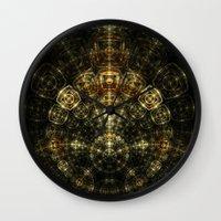 matrix Wall Clocks featuring Matrix by Eli Vokounova