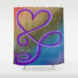 Flowing On Rainbows Shower Curtain
