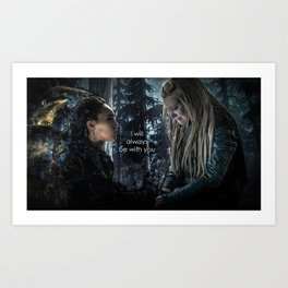 """Clexa: """" I will always be with you"""" Art Print"""