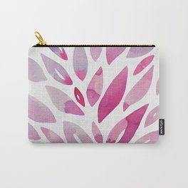 Watercolor floral petals - pink and purple Carry-All Pouch