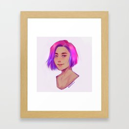 PRIDE19: Bi Framed Art Print