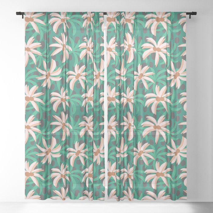 desert palms Sheer Curtain