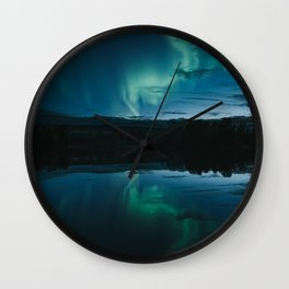 Aurora Lake - Landscape and Nature Photography Wall Clock