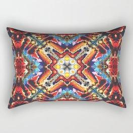 Colorful Tribal Motif Rectangular Pillow