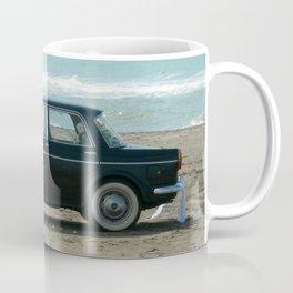 Weddings car on the  beach Coffee Mug