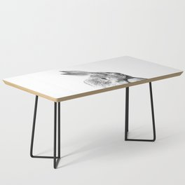 Black and white rabbit Coffee Table
