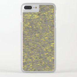 Dots Grey Clear iPhone Case