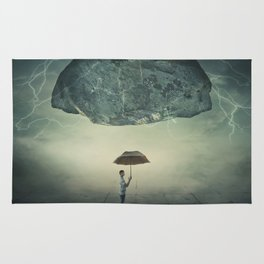 mystic umbrella protection Rug