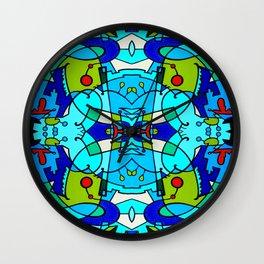 Vert A Gauche 2 Wall Clock