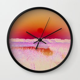 POSITIVE NEGATIVE NATURE Wall Clock