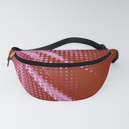Lesbian Pride Pixellated Abstract Rays Fanny Pack