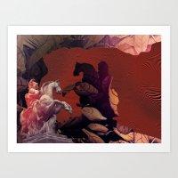 heroes Art Prints featuring Heroes by infloence