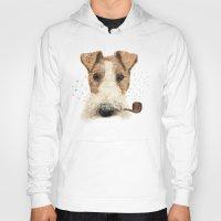terrier Hoodies featuring fox terrier sailor by dogooder
