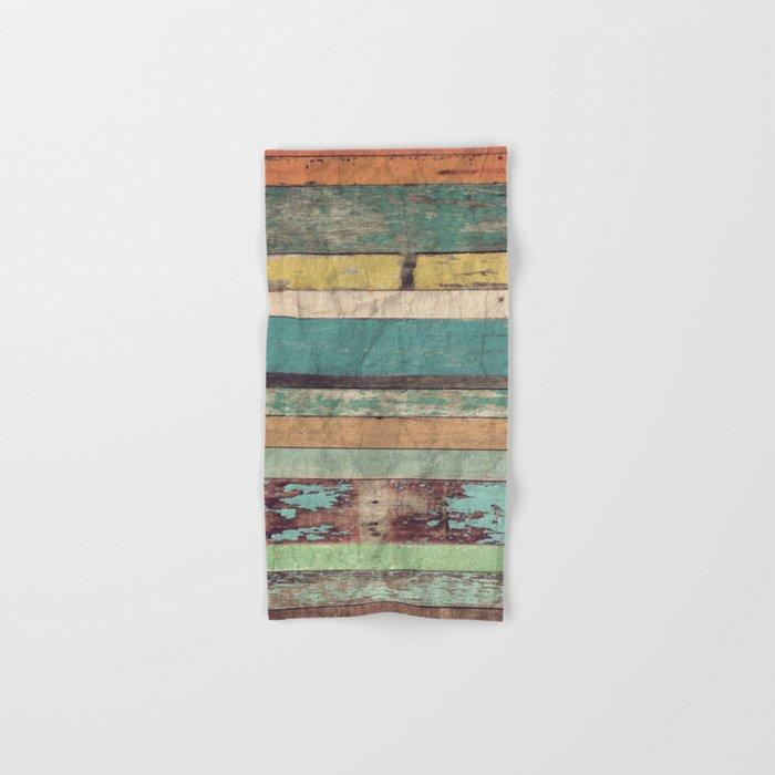 Wooden Vintage  Hand & Bath Towel
