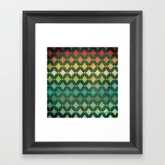 Vintage Rainbow Pattern Framed Art Print