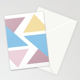 Geometric triangle pastel origami Stationery Cards