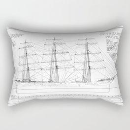 Balclutha Ship Outboard Profile Diagram Rectangular Pillow