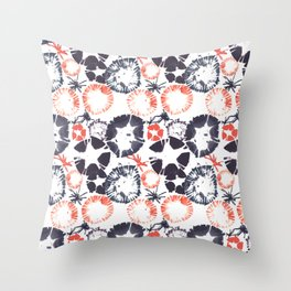 Hawaiian Print [white] Throw Pillow