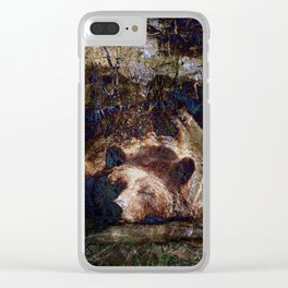 Long Winters Nap (with Star Sparkle) Clear iPhone Case
