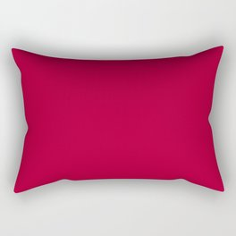 Alabama Crimson - Solid Red Color Rectangular Pillow