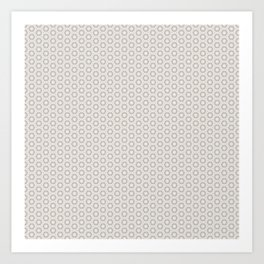 Hexagon Light Gray Pattern Art Print