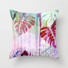 Drippy Jungle {light} Throw Pillow