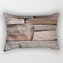 Artisan Masonry Stone House Front Detail 001 Rectangular Pillow