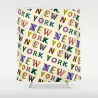 new york Shower Curtains featuring New York New York by Fimbis