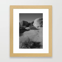 Desert Rocks Framed Art Print
