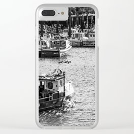 Whitby fishing boat Clear iPhone Case