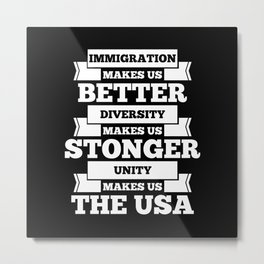 Immigration USA Metal Print